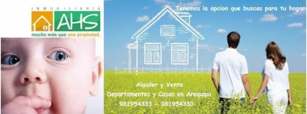 AHS DU 2018 Vendo hermoso duplex con cochera y finos acabados en Quinta Azores Cerro Colorado