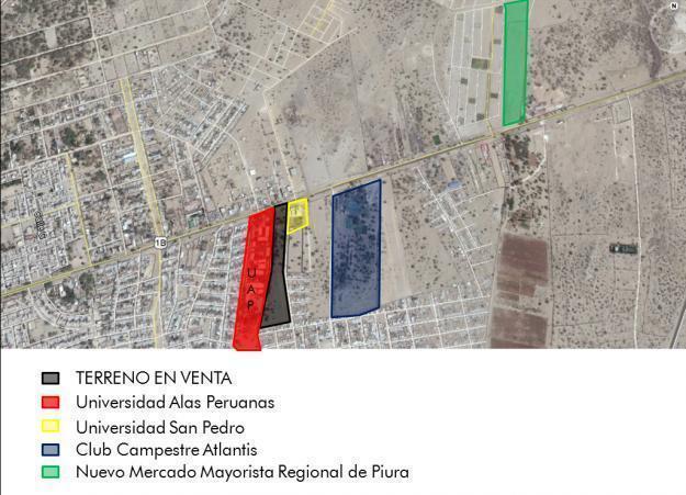 VENTA DE TERRENO EN PIURA ALEDAÑO A 2 UNIVERSIDADES DE 3 HECTAREAS