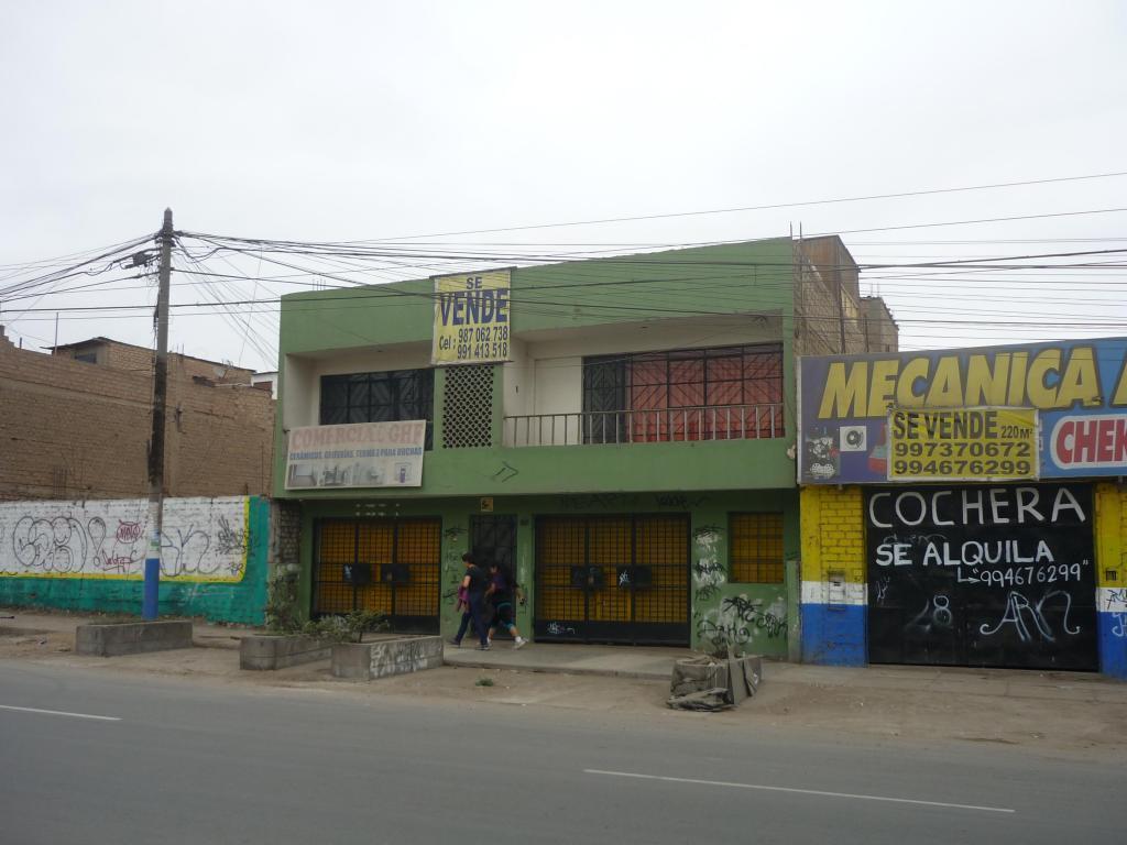 VENTA O ALQUILER DE INMUEBLE COMERCIAL EN PLENA AV. CORDIALIDAD, LOS OLIVOS