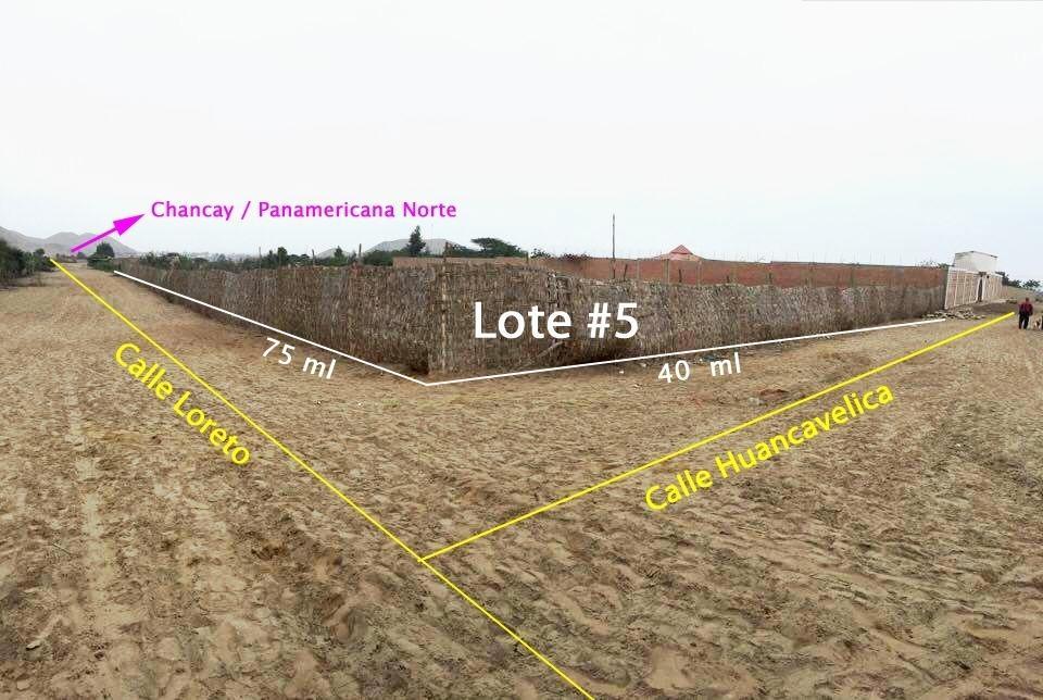 Vendo terreno en Pampa Libre Chancay