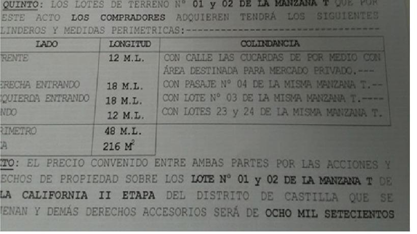 VENTA DE TERRENOS EN VILLA CALIFORNIA II ETAPA