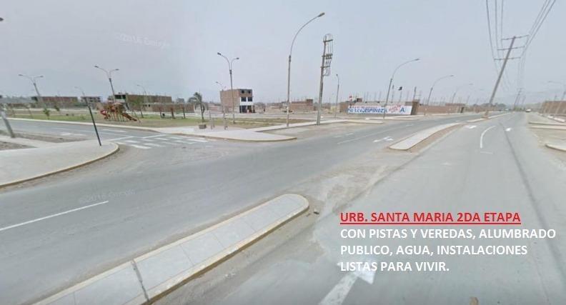 Excelente Ocasión Se Vende Terreno de 105 Mt2 en La Urb Santa Maria La Mejor Zona de Carabayllo